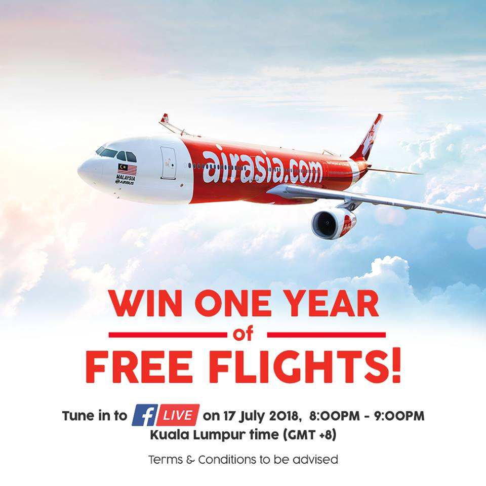 air asia win one year of free flights promo july 17 2018 1